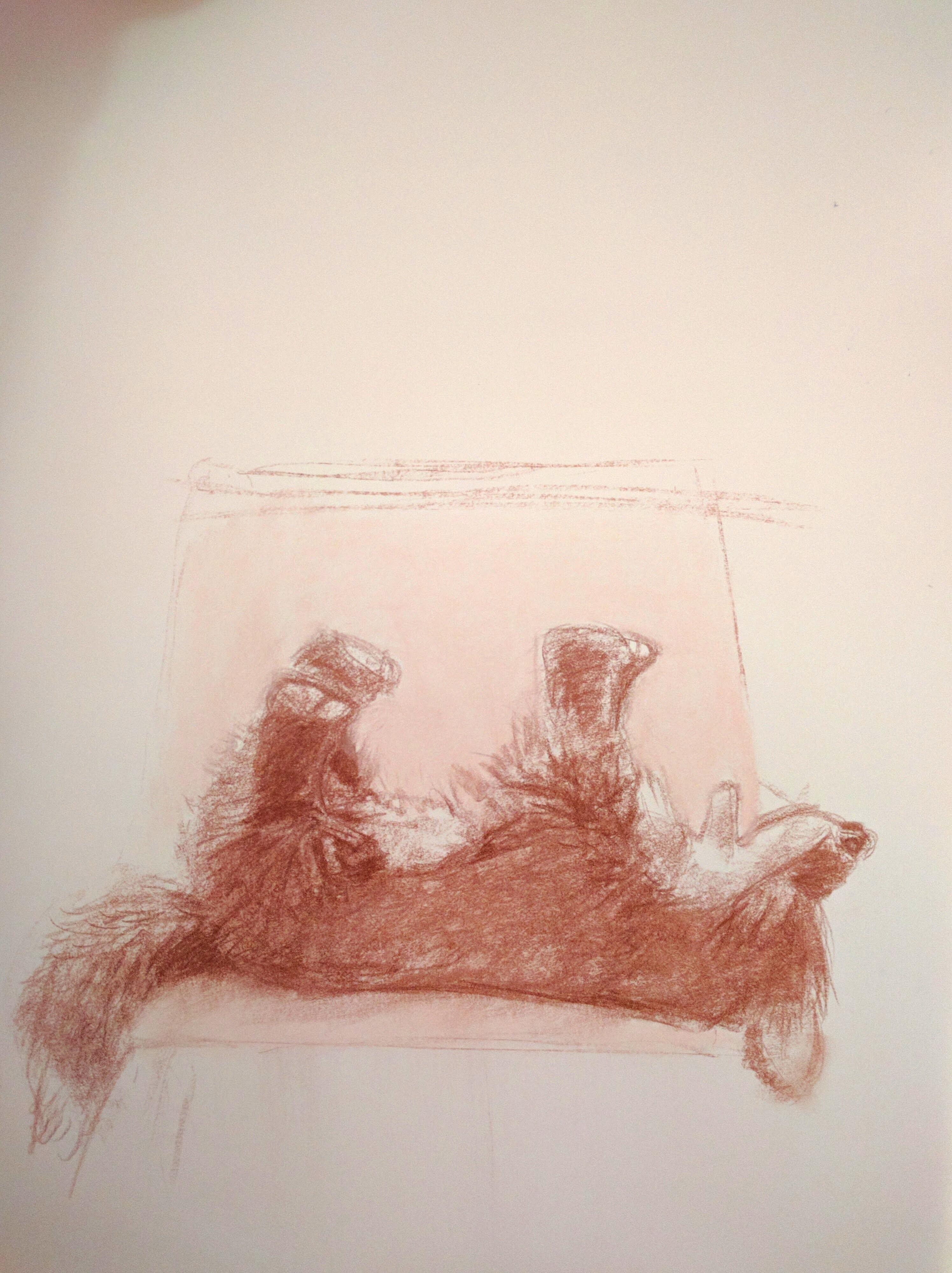 Resting fox puppet